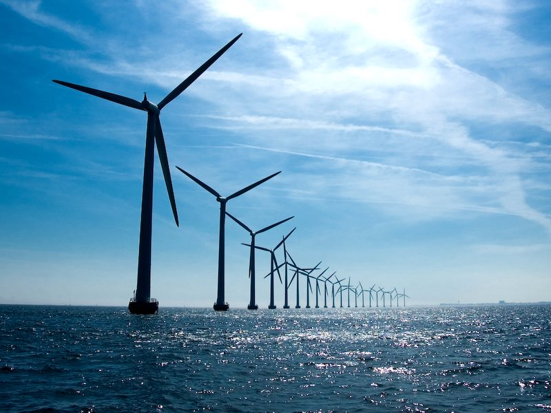 The Middelgrunden marine wind farm near Copenhagen is a wonder of 'green' energy technology. But even this has its toxic footprint, in the mines that produce the neodymium that's indispensable to their operation. Photo: Andreas Klinke Johannsen via Flickr