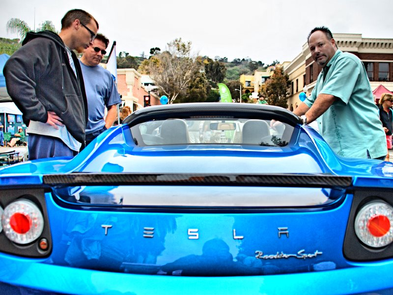 The Tesla Roadster - pictured here in Ventura, California - is a great car. But even though it creates no pollution when you drive it, its manufacture leaves a heavy toxic footprint. Photo: Wendell via Flickr (CC BY-NC-ND).