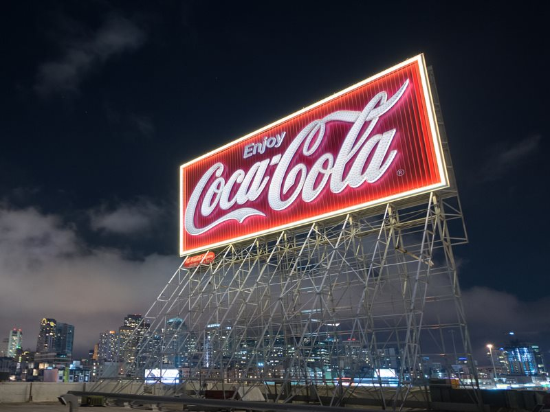 Photo: Coca Cola sign on the San Francisco skyline by .freeside. via Flickr (CC BY-NC-ND).