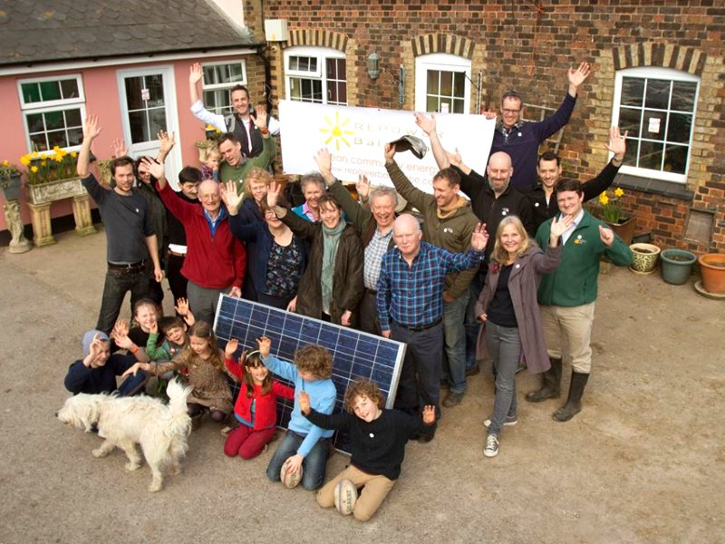 Repower Balcombe members launch their solar coop in April 2014. Photo: RePower Balcombe via Facebook.