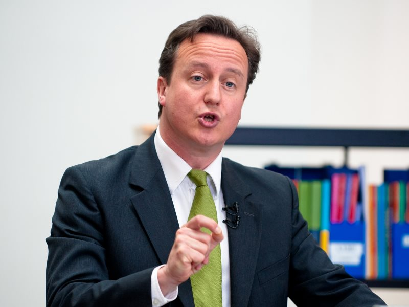 See beyond the tie ... David Cameron giving a speech to the Open University. Photo: The Open University via Flickr (CC BY-NC-ND).