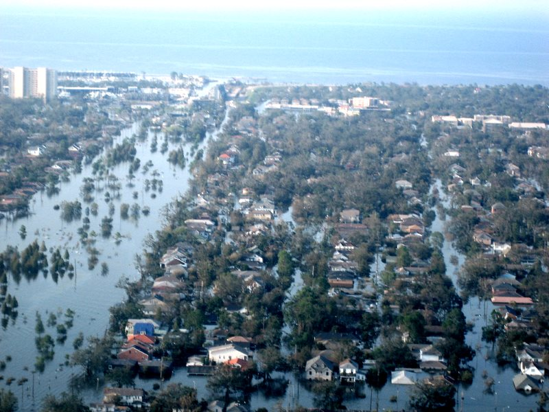 The aftermath of Hurricane Katrina in New Orleans, Louisiana, USA. Photo: News Muse via Flickr (CC BY-NC-ND).