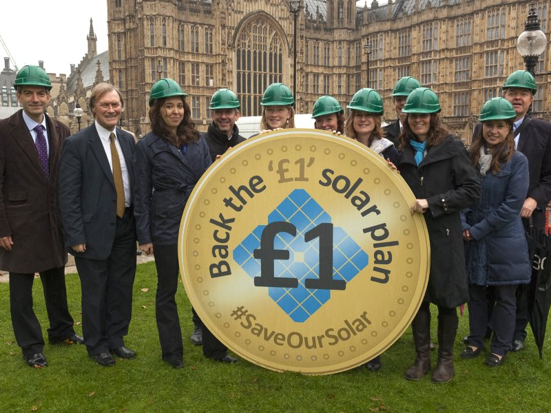 The £1 plan garnered cross-party support from over 30 MPs from all parties yesterday at an action outside the House of Commons including Sir David Amess MP (Con), Mims Davies MP (Con), Kevin Hollinrake MP (Con), Caroline Flint MP (Lab), Caroline Lucas MP