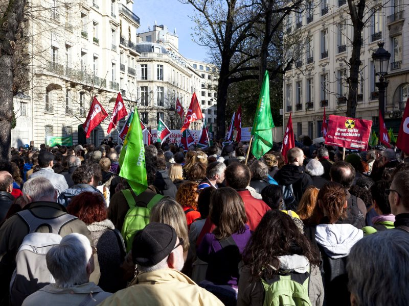 If there's one thing the French are good at, it's demonstrating - as it this huge climate action and anti-nuclear protest outside the Assemblée Nationale, Paris, on 20th March 2011. Photo: philippe leroyer via Flickr (CC BY-NC-ND).