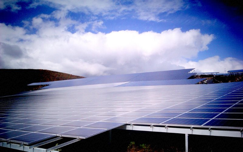 A large solar installation at Arico, Canary islands, Tenerife, Spain. Photo: Jose Mesa via FDlickr (CC BY).