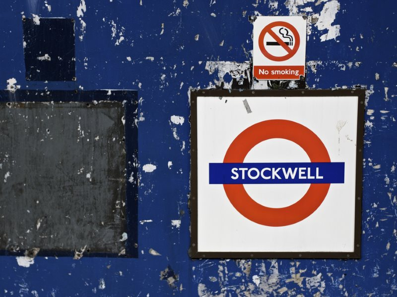 Stockwell Tube Station, London, where Jean Charles da Silva e de Menezes was shot dead on 22nd July 2005 by officers of the London Metropolitan Police Service at Stockwell Station. He was entirely innocent of having anything to do with terrorism. Photo: A
