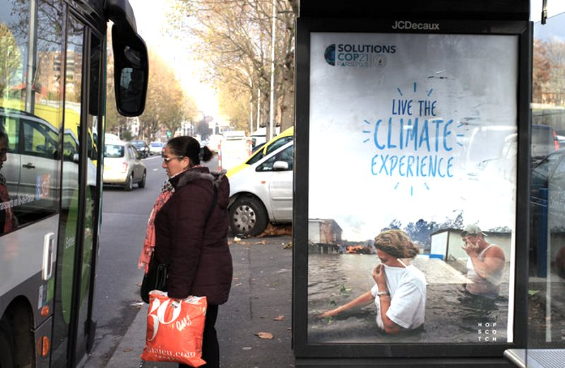 Living the real climate experience? Image by Brandalism.org.uk. Artwork by Bill Posters. Author provided.