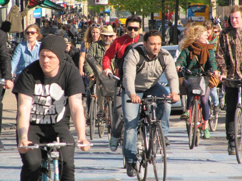 Cyclists in the Copenhagen rush hour. Photo: MarkA via Flickr (CC BY-NC-SA).