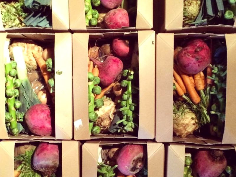 Good for the environment, and good for you too: organic vegetable boxes ready to go at Sandy Lane Farm, Oxfordshire. Photo: Sandy Lane Farm via Facebook.