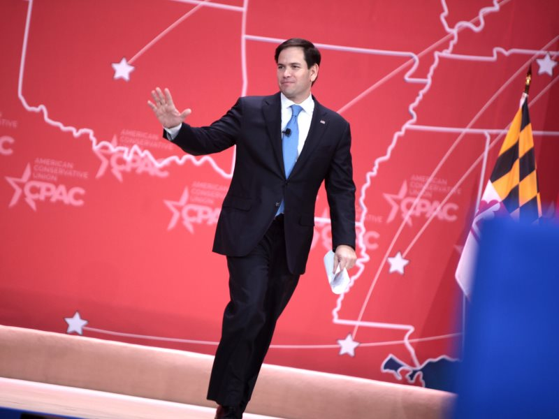 What? You must leave us? So soon? US Senator Marco Rubio of Florida speaking at the 2015 Conservative Political Action Conference (CPAC) in National Harbor, Maryland. Photo: Gage Skidmore via Flickr (CC BY-SA).
