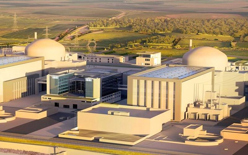 Artist's impression of the Hinkley Point C nuclear plant. Image: EDF Energy.