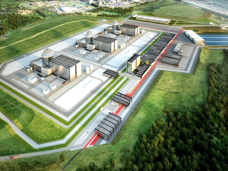 Artist's impression of the Moorside nuclear complex, built on a green field site next to the Sellafield nuclear complex. Image: Nugen.