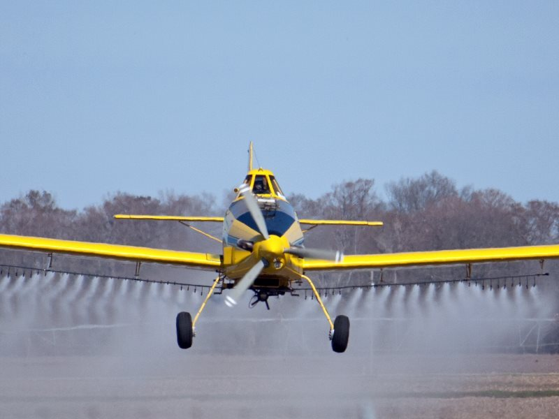 Herbicide spraying in Arkansas, USA. Photo: Kevin Wood via Flickr (CC BY-SA).