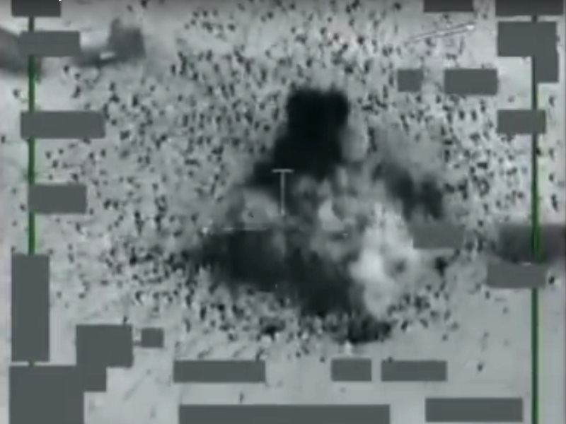 Nov 16: Coalition strike destroys 116 ISIL fuel trucks near Abu Kamal. Photo: from video (see embed).