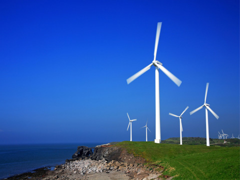 Cliff-top wind turbines