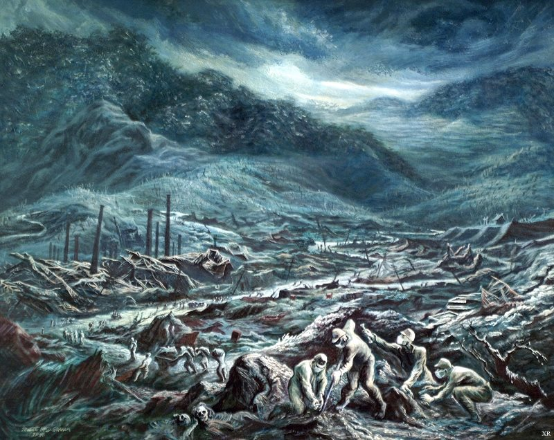 after hiroshima and nagasaki a third nuclear atrocity the after the bomb retrieving the dead of nagasaki 1945 painting by us army posted on flickr by james vaughan cc by nc sa