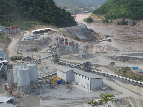 The Xayaburi dam site. Photo: Tom Fawthrop.