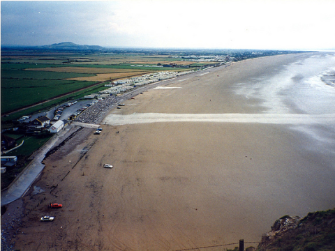 View from above the Somerset Coast across the Levels. Photo: Simon Haslett via Flickr.com.