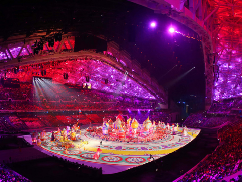 Sochi 2014: a spectacle fit for a Tsar - but not a snowflake in sight. Photo: Republic of Korea via Flickr.com.