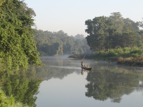 River in Chitwan National Park. Photo: ALERT-conservation.org.