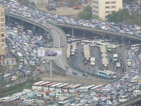 The traffic of Cairo - worsening health outcomes for mothers and babies. Photo: erlend.paasche via Flickr.com.