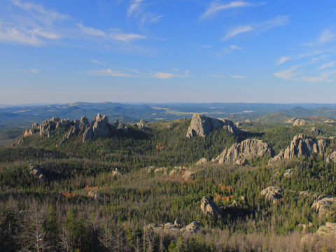 View from Harney Peak in the Black Hills, South Dakota. Photo: Navin Rajagopalan via Flickr.com.