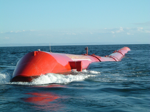 The Pelamis wave power generator. Photo: Jumanji Solar via Flickr.com.