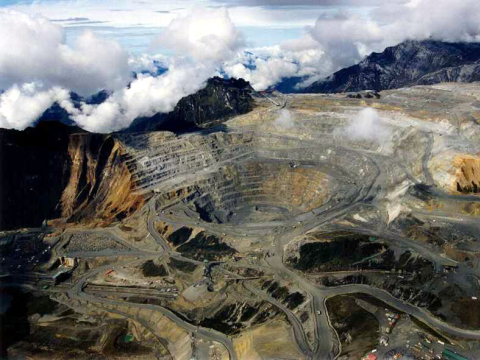 Grasberg Mine in West Papua, the world's biggest gold mine. Photo: Free West Papua Campaign.