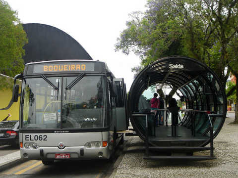 Curitiba bus stop. Photo: mariordo59 via Flickr.com.
