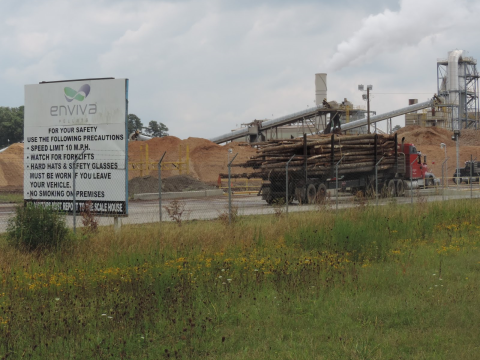 Enviva's Ahoskie pellet mill in North Carolina. Photo: Dogwood Alliance.
