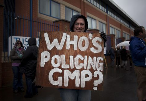 Who's policing GMP? Photo: Salford Star.