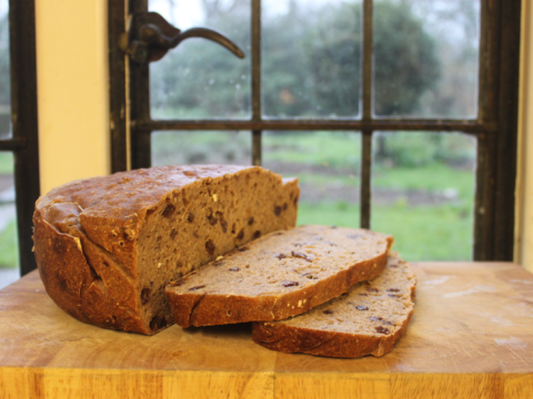 Sourdough bread cooling at the window. Photo; Joanna Wright.