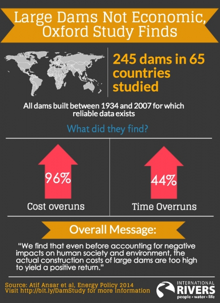 Dam infographic by International Rivers.