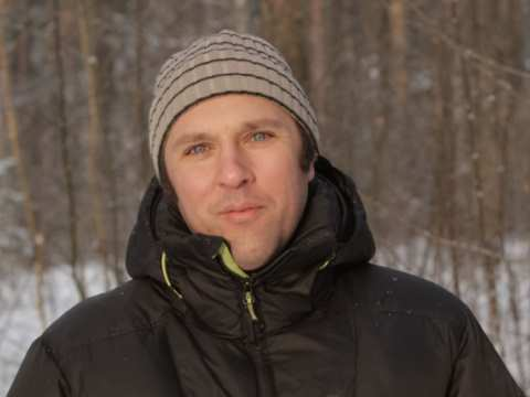 Suren Gazaryan, winner of a 2014 Goldman Prize, in Russia's wild woods.