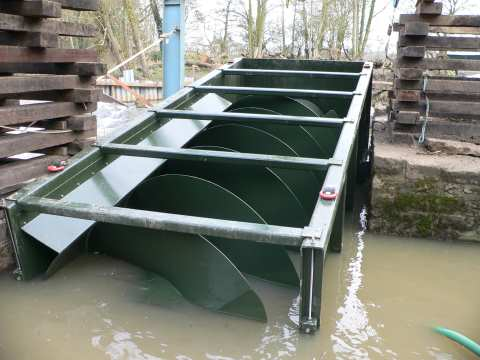 The Archimedes screw employed at Howsham Mill.