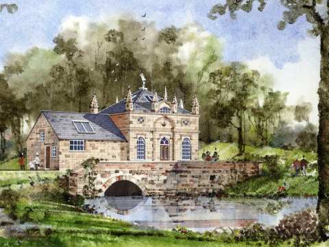 Howsham Mill - an artist's impression of the completed restoration, 2005.