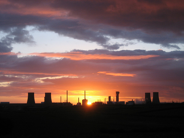 Sunset over Sellafield. Photo: Dom Crayford via Flickr.com.