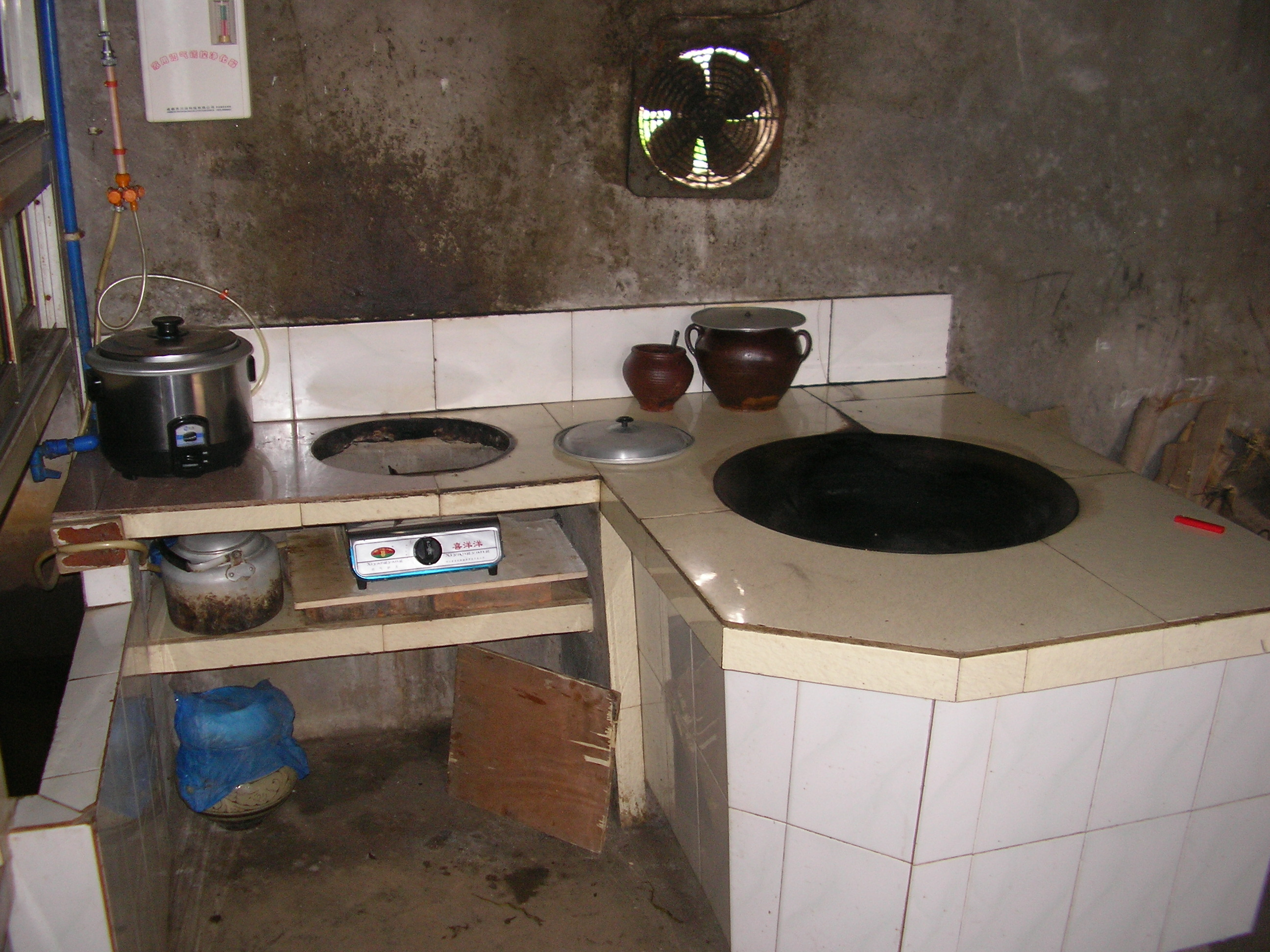 Kitchen using biogas. Photo: John Hawdon.