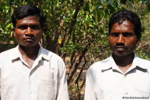 Two Munda men from Jamunagarh village have launched a desperate appeal to remain on their land inside Similipal Tiger Reserve. Photo: © Survival International.