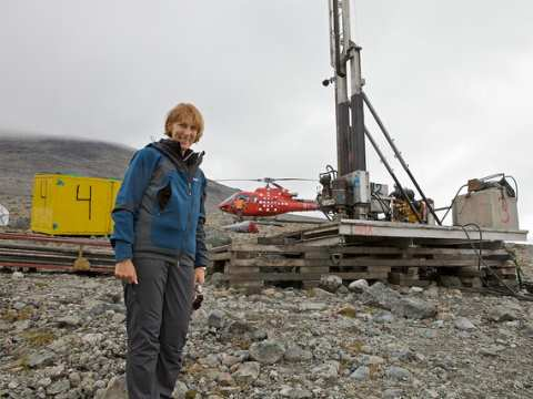 Jacqueline McGlade of the European Environment Agency visiting Narsaq, a potential uranium mine site in Greenland. Photo: EEA via Flickr.