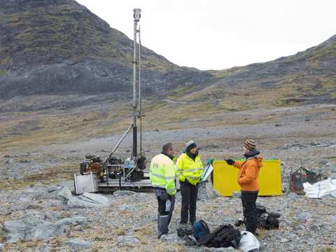 A geological survey team at Narsaq, Greenland, where a uranium mine is planned. Photo: EEA via Flickr.