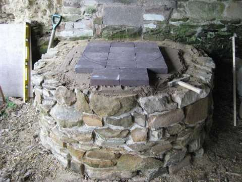 The completed foundation for our cob oven. Photo: Smallholder Training.