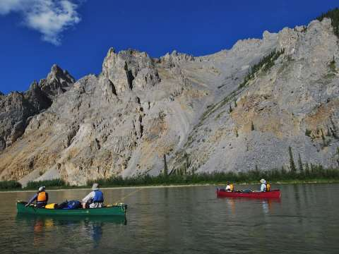 Canoeing in the Peel Watershed. Photo: Jill Pangman.