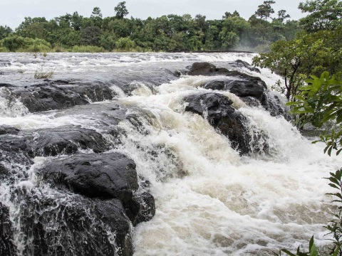 The Areng river and its dramatic waterfalls could be one of Cambodia's premier tourist attractions - if the dam is not built. Photo: Rod Harbinson.