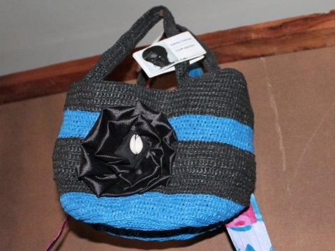 From the workshop, a durable bag woven from waste plastic. Photo: author supplied.