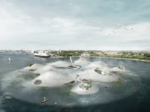 Visual for proposed House of Water, Copenhagen, Denmark. Architect: Tredje Natur.