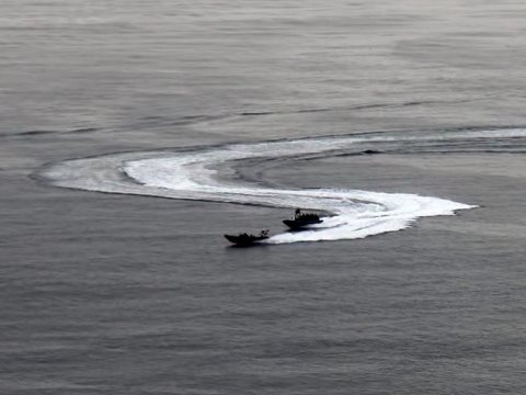 The Danish Navy chases Sea Shepherd UK's Spitfire. Photo: Sea Shepherd.
