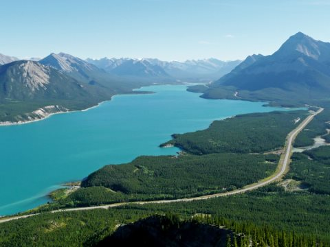 Abraham Lake is Alberta's longest man-made lake at 33 kilometres. It formed after the Bighorn Dam was constructed on the North Saskatchewan in 1972. The area 'would be an ideal candidate for a Provincial Park which would provide permanent protection', Ala