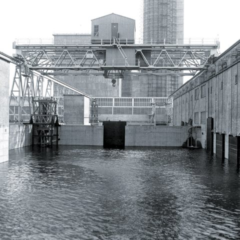 The B30 fuel holding pond in operation. Image: Sellafield Ltd.