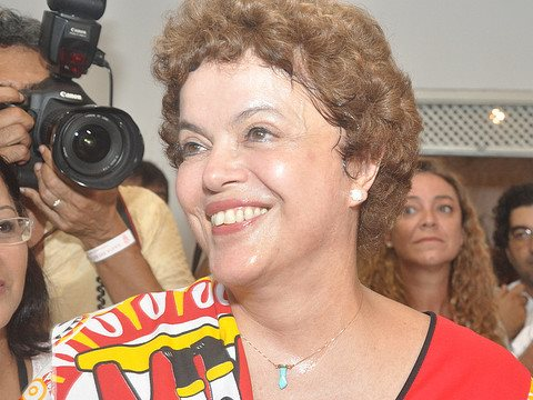 Dilma Roussef is full of smiles - but the methane from the Belo Monte and other planned dams gives the world little to be happy about. Photo: Turismo Bahia via Flickr.